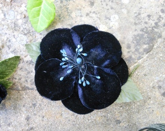 Vintage blue blossom millinery/hat pin