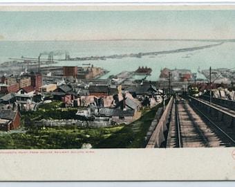 Minnesota Point from Incline Railway Railroad Duluth MN 1910c postcard