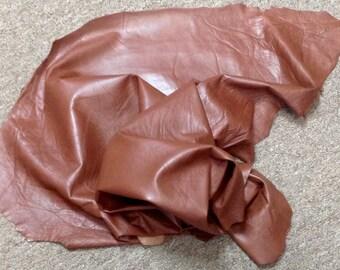 AU01.  Oxford Brown Leather Lambskin