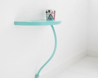 Bedside table. Nursery decor. Kids room decor. Bedroom furniture. Console table. Bedroom decor. Kids' furniture. Wall self blue. Nightstand.