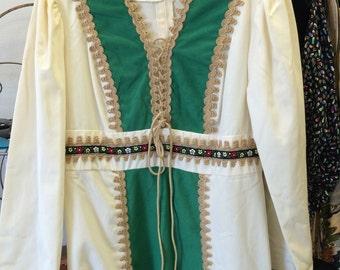 Prairie Dress 70s Festival Boho Country Gunne Sax Style Hippie Vintage M L