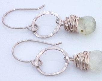 Green Gemstone, Green Stone Jewelry, Green Stone Earrings, Prehnite Earrings, Prehnite Jewelry, Prehnite, Pantone, Greenery, Eco Fashion