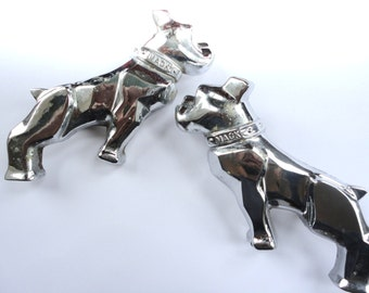 Pair of Old Mack Truck Profile Ornaments