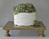 "Gold Cake Stand 16"" Wedding Cupcake Vintage Gold Cake Topper Rustic Wedding Decor E. Isabella Designs Featured In Martha Stewart Wedding"