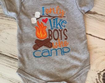 I Only Like Boys Who Camp Shirt