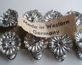 Vintage GERMAN CHRISTMAS Candle Clips made in Western Germany Set of 8 Decorate the German Christmas Tree