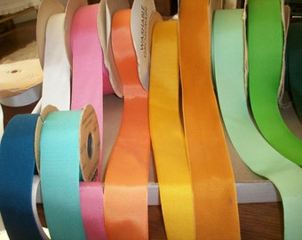 1 1/2 inch grosgrain ribbon in colors vintage cotton and rayon