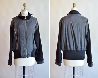 Vintage 1980s MONDI avante garde zippered knit jacket