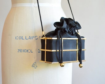 Vintage METAL cage purse