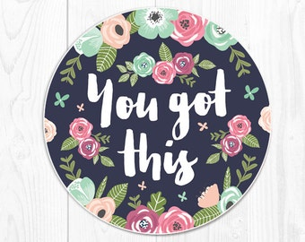 Mouse Pad Mousepad Cubicle Decor Floral Mousepads Office Desk Accessories New Job Gift Office Supplies You Got This Mousepad Coworker Gifts