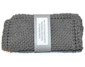 Hand Knit Dish Cloths Grey