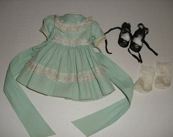 "Original Tea Party Dress for 17"" Hard Plastic Arranbee Nanette Doll"