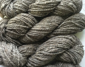 Handspun CVM grey yarn