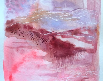Blushing Series: Abstract #5 Original Painting