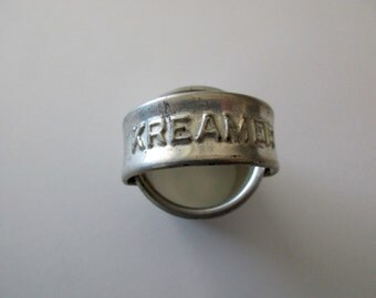 1930s, 1940s, small biscuit CUTTER - Kreamer, circle, round, donut, cookie