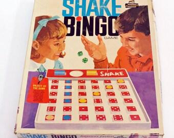 1960s Shake Bingo Schaper Games Connect 6 Style Retro Kids Game Room