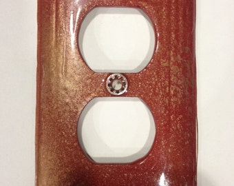 Set of 2 matching double plug outlet covers