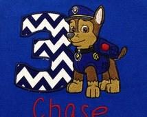Paw Patrol Birthday Shirt, Chase