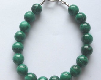 Genuine Malachite Beaded Bracelet