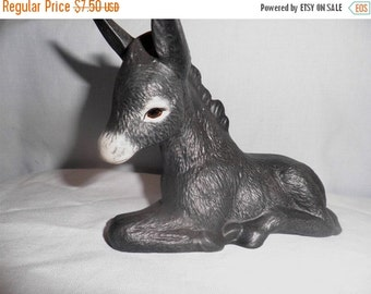 SALE 20% Off Donkey, A80, Hand Painted Ceramic
