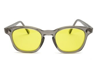 Vintage Deadstock American Optical Safety Glasses - Grey & Yellow