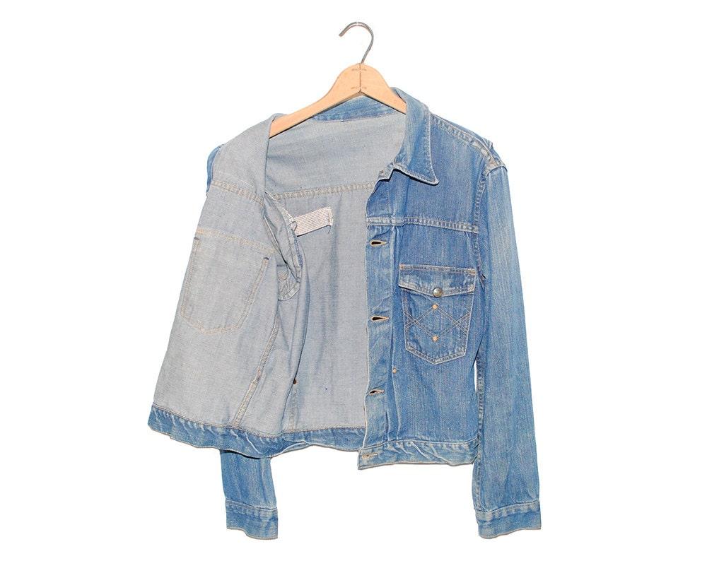 Vintage Old Kentucky Second Model Blue Denim Jean Jacket Made in USA - Medium