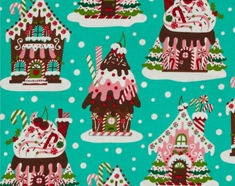 Holiday Gingerbread House Fabric by Michael Miller