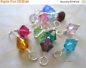 20% OFF ON SALE Swarovski Crystal Birthstone Bicone 6mm Wire Wrapped Dangle, 12 pcs, Jewelry Making