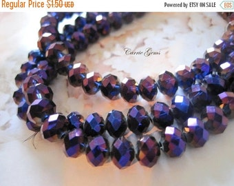 20% OFF ON SALE Chinese Crystal Purple and Blue Faceted Round 8mm Beads, 20 pcs