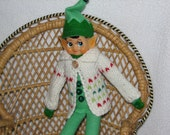 Elf Sweater / Accessories / Clothing / Clothes - RTG - in White Red and Green Wool