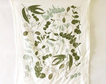 Eucalyptus Towel : Flour Sack Kitchen Tea Towel