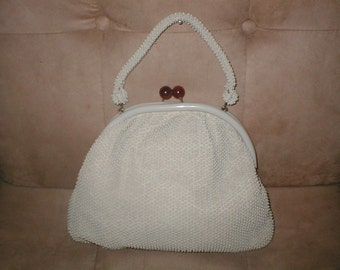 1940's Corde-Bead by LUMURED Handbag