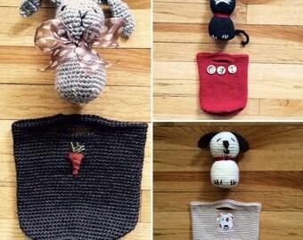 Buddy Buckets Crochet Pattern - for Crochet a Petting Zoo Stuffed Animal Toy