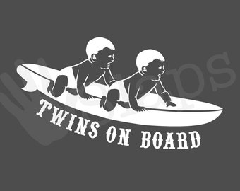 Twins on board vinyl decal car sticker