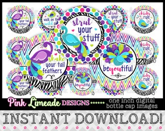 "Strut Your Stuff - INSTANT DOWNLOAD 1"" Bottle Cap Images 4x6 - 911"