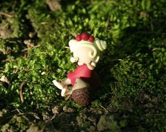 Tiny Hedgehog Fairy Figurine