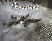 Custom order pearl hair barrette