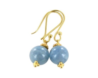 Aquamarine 18k Gold Earrings