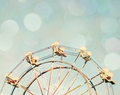 ferris wheel art toddler boy room carnival photography pastel blue wall art baby nursery decor ferris wheel print nursery wall decor