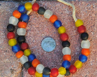 Ghana Glass Beads: Mixed Colors 13mm