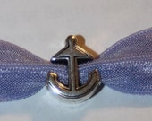 ON SALE 10% off Set of 10 silver Anchor slide Charms for Bracelet or Hair Ties