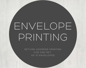 Return Address Envelope Printing