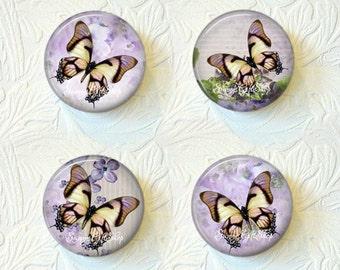 """Butterfly Magnet Set, 1.5"""", Set of 4,  Buy 3 Sets Get 1 Set Free 506M"""