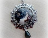 Mucha Necklace Alphonse Mucha's Necklace Silver Statement Necklace Art Nouveau Pendant Necklace Mucha Jewelry Art Nouveau Jewelry
