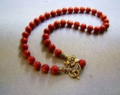 Genuine Red Brown Corals Necklace - Choose length and Coral size