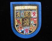 Belgium Patch- Vintage Sampson's Woven Badges- European Sew On Patch- Vintage Patch Applique Travel Souvenir Deadstock New Old Stock NOS