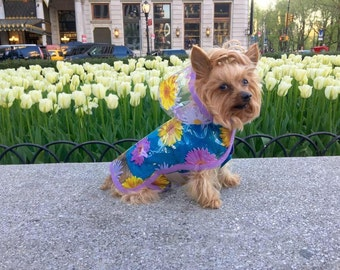 Gerber Daisy Dog Rain Jacket, Dog Rainjacket, Dog Coat, Dog Jacket, Dog Jackets, pet clothing