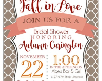 PRINTABLE fall themed shower invitation