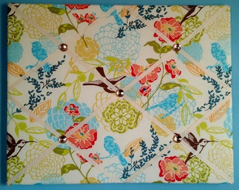 Hummingbird and flower french memo board, 16 x 20