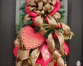 Leopard Valentine Swag, Valentines Day Wreath, Valentine Door Wreath, Flirty Leopard Swag, Wild Heart